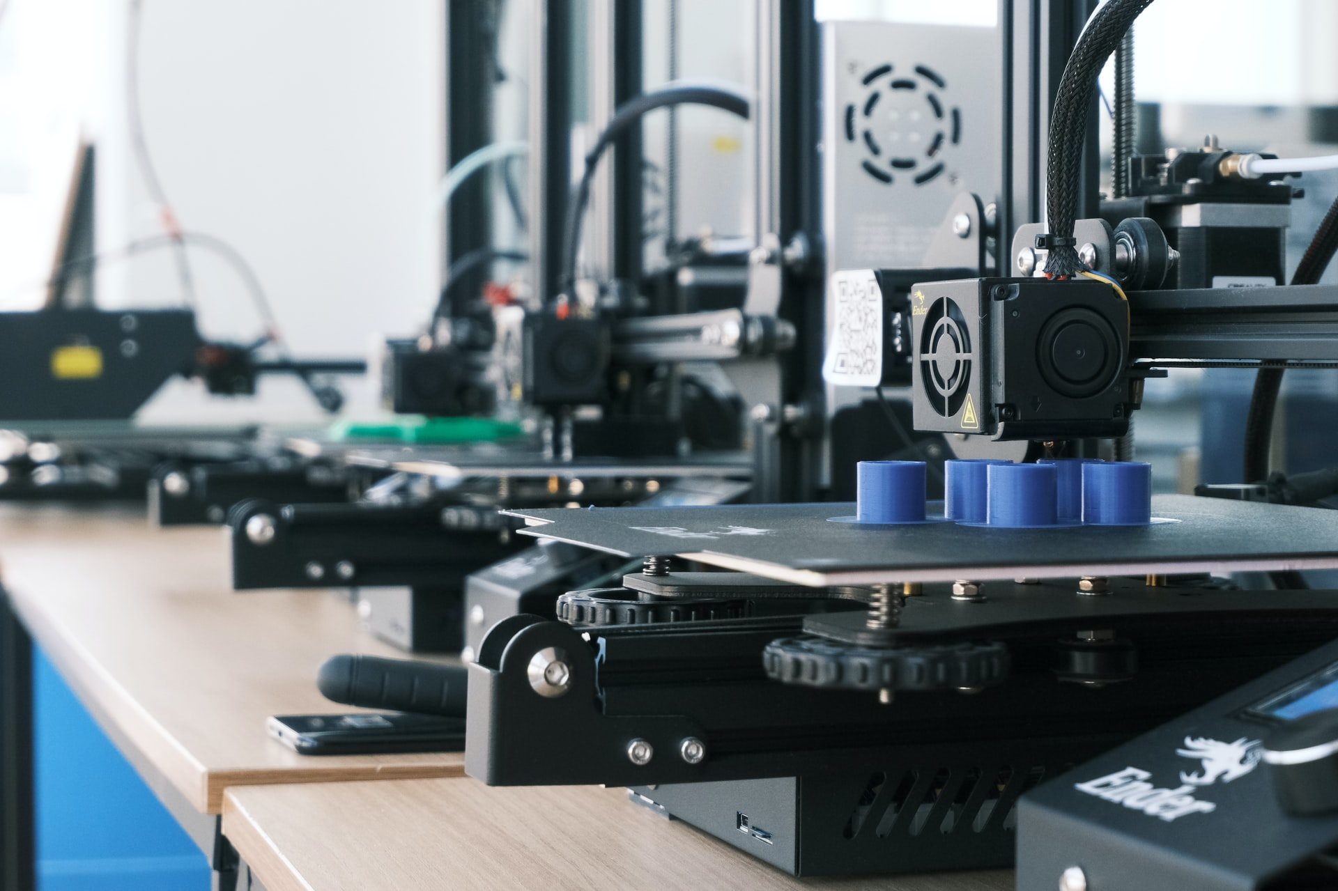 3d printer on a table