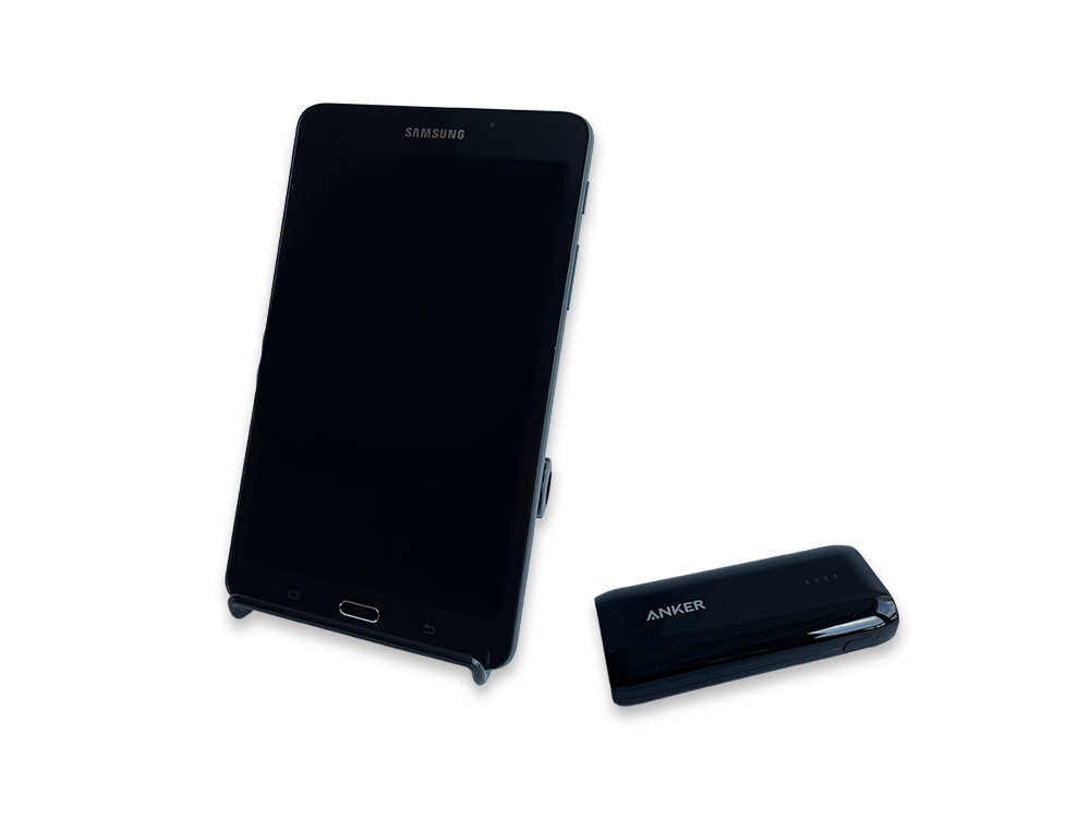 samsung tablet side view
